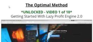 Lazy Profit Engine 2.0 The Optimal Method
