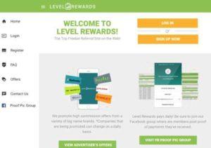 Level Rewards home page