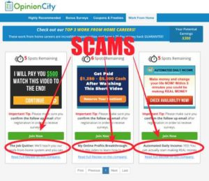 Opinion City Has Scam Offers
