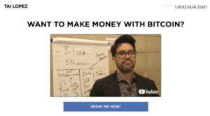 Tai Lopez Bitcoin Crypto Academy Sales Page