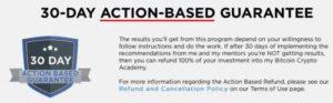 Tai Lopez Bitcoin Crypto Academy's 30 day action based guarantee