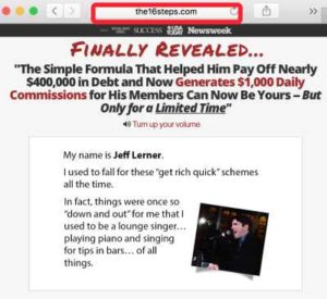 The 16 Steps To Six Figures Sales Page