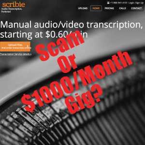 is Scribie a scam