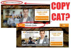 Bitcoin Millionaire Club Copy of Bitcoin Code?