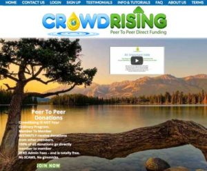 CrowdRising Home Page