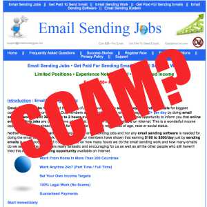 Is Email Sending Jobs A Scam?