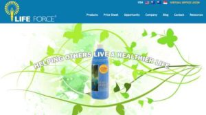 Life Force International home page