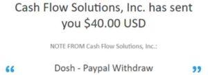 Dosh App Payment Proof