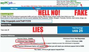 My PC Job Members Area full of lies