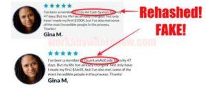 Quantum Ad Code Fake Testimonies