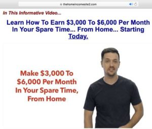 Home Income System Sales Page Sales Video