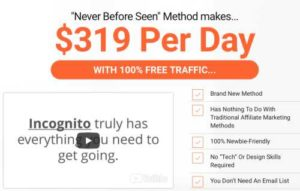 Incognito Sales Page