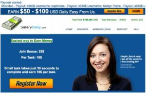 Salary Daily home page