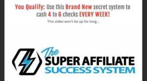 The Super Affiliate Success System Sales Video Home Page