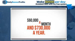 Daily Banner Profits sales video home page