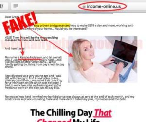 Income Online Red Flag #3 Fake Owner