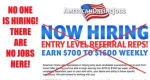 American Online Jobs has no jobs and no one is hiring