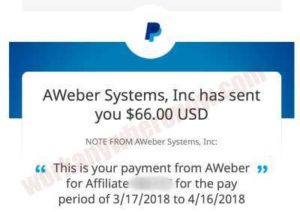 Income Proof - Aweber