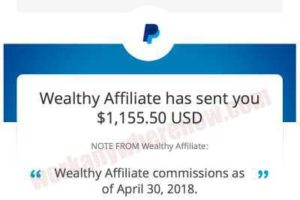 Income Proof - Wealthy Affiliate