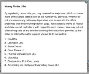 Money Finder USA List of Partners your info will be shared to