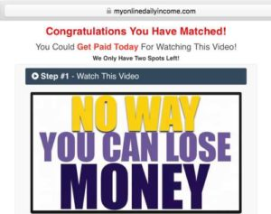 My Online Daily Income sales video