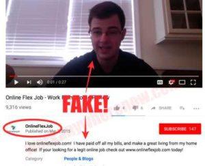 Online Flex Job Fake Testimonies