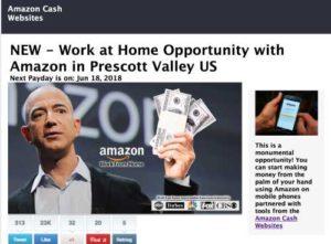Amazon Cash Websites home page