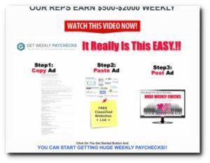 Get Weekly Paychecks 3 steps