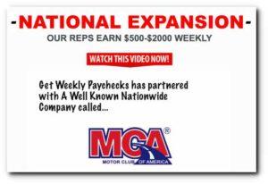 Get Weekly Paychecks Sales Video