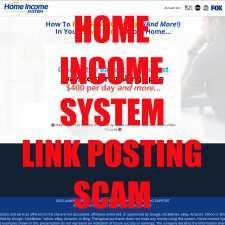 Home Income System pointandclickprofit.com is a link posting scam