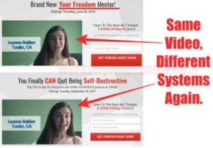 Your Freedom Mentor Using Sales Video From Another Scam 2