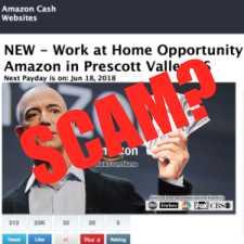 is Amazon Cash Websites a scam