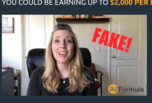 AZ Formula Fake Testimonies