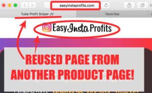 Easy Insta Profits Uses Pages From Other Products