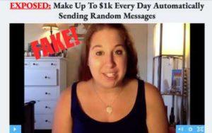 Message Money Machine fake testimonies
