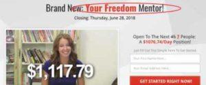 Message Money Machine fake testimonies 4 Your Freedom Mentor Scam