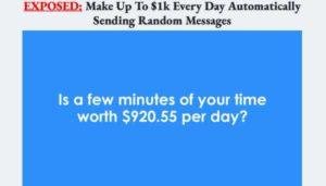 Message Money Machine sales video