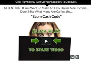 Ecom Cash Code sales video