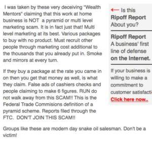 Millionaire Mentors Alliance complaints 2