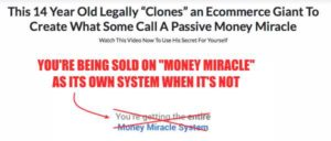 Money Miracle Is Not Its Own System
