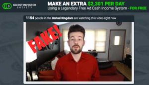Secret Investor Society Fake Testimonies 2