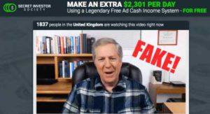 Secret Investor Society Fake Testimonies
