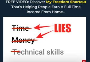 The Freedom Shortcut lies not needing money for this system