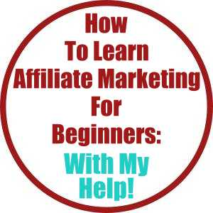 How To Learn Affiliate Marketing For Beginners With My Help