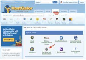 HostGator 10 Install WordPress