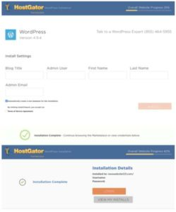 HostGator 12 Install WordPress