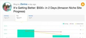 Zarina's Success Post