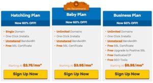 HostGator Compare Plans