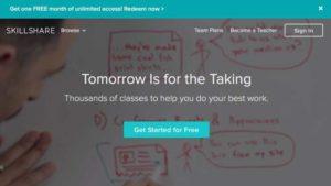 Skillshare Home Page