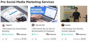 Fiverr Pro social media services